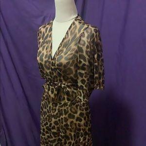 BNWT Wax Poetic Leopard Wrap Dress